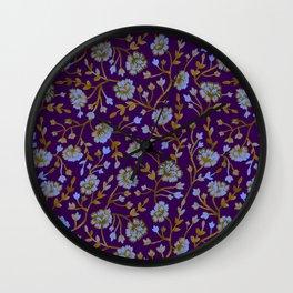 Watercolor Peonies - Amethyst Wall Clock