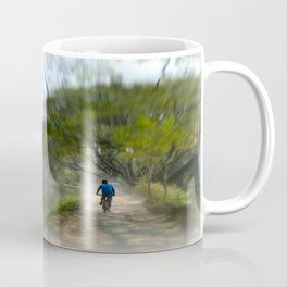 Epic Shot Cycling The Canal Route In Kerala, India Coffee Mug