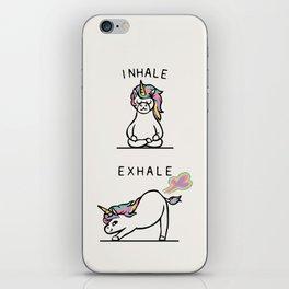 Inhale Exhale Unicorn iPhone Skin