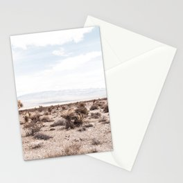 Cactus Range // Cowboy Mountains and Dusty Blue Sky Desert Landscape Stationery Cards