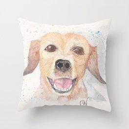 Smily dog Throw Pillow
