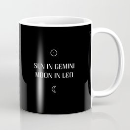 Gemini/Leo Sun and Moon Signs Coffee Mug