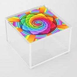 Healing Lotus Rainbow Yin Yang Mandala Acrylic Box