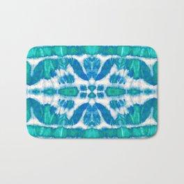 Tie-Dye Twos Aqua Bath Mat