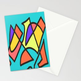 Blue blue multicolor Stationery Cards