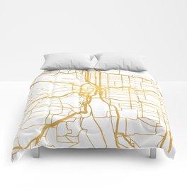 PORTLAND OREGON CITY STREET MAP ART Comforters