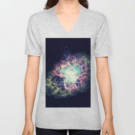 Galaxy Crab Nebula : Deep Pastels Unisex V-Neck