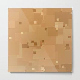 Desert Mist Square Pixel Color Accent Metal Print