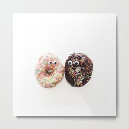Donut Conversation Food Photography Metal Print