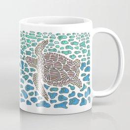 Vanishing Sea Turtle by Black Dwarf Designs Coffee Mug