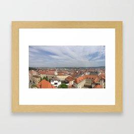 Brno view Framed Art Print