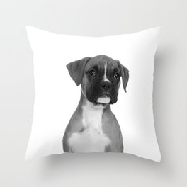 Boxer Pup Throw Pillow