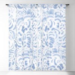 Dye Curves Soft Blue Blackout Curtain