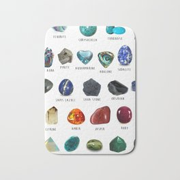 crystals gemstones identification Bath Mat