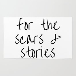 "FOB lyrics ""for the scars and stories"" Rug"