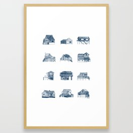 Houses of Lupus, Missouri Framed Art Print