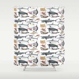 Marine wildlife Shower Curtain