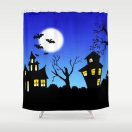 Blue Sky Of Nightmare Shower Curtain