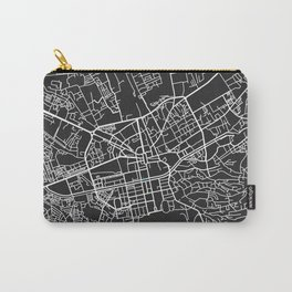 Tirana city map black colour Carry-All Pouch