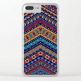 Colorful Boho Zig Zag Gypsy Clear iPhone Case