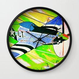 P51 Mustang Pop Art Wall Clock