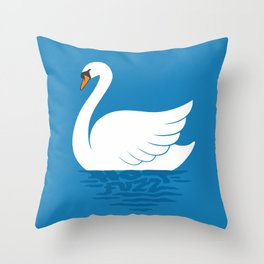 Just The One Swan Actually Throw Pillow