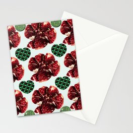 Garnets and fractal hearts Stationery Cards