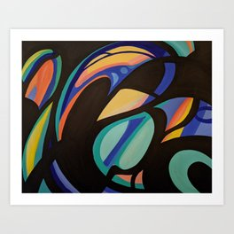 Stained Glass Painting No. 1 Art Print