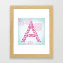 Floral Letter 'A' Framed Art Print