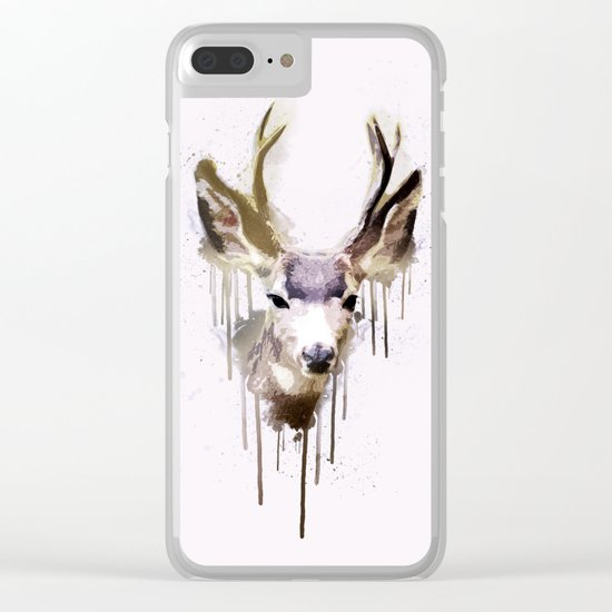 Deer Go-Down Clear iPhone Case