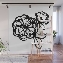Garden Rose -  Ink illustration Wall Mural