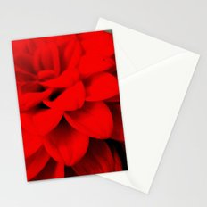 Red Dahlia Stationery Cards