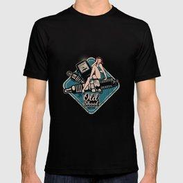 Rockabilly Old School Pin Up Girl Repair Shop T-shirt