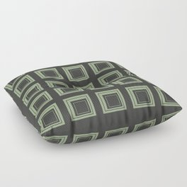 Green Squares Floor Pillow