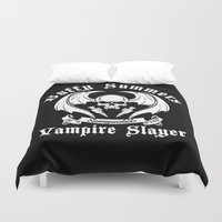 buffy the vampire slayer Duvet Covers featuring Buffy the vampire slayer by CarloJ1956