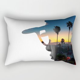 LA Portrait Rectangular Pillow
