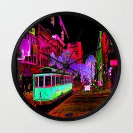 Trolly Night on Main Wall Clock