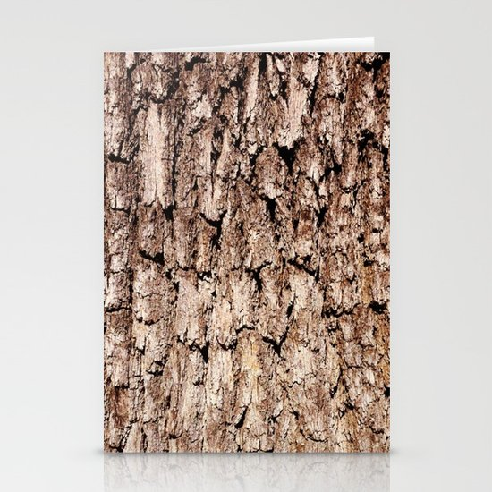 Oak Bark Texture Stationery Cards
