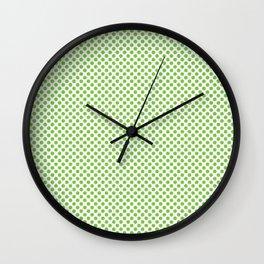 Jasmine Green Polka Dots Wall Clock