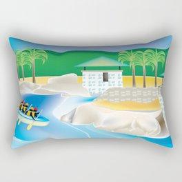 Dominican Republic - Skyline Illustration by Loose Petals Rectangular Pillow