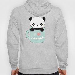 Kawaii I Love Pandas Hoody
