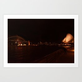Harbor Bridge and Opera House Art Print