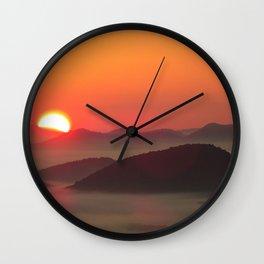 Sunrise Over Blue Ridge Mountains Wall Clock