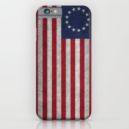 Betsy Ross flag, distressed textures iPhone Case