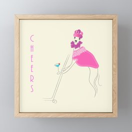 Cosmo Girl Italian Greyhound (Iggy) Framed Mini Art Print
