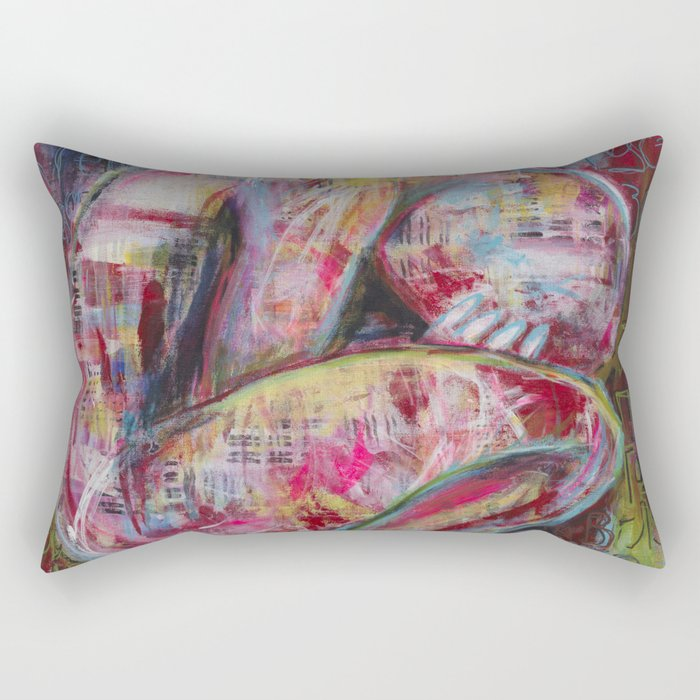 How the Sadness Swells/I Recall A Wonderful Moment (Pushkin) Rectangular Pillow