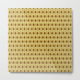 Geometric Abstract Pattern (Gold/Brown) Metal Print