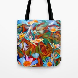 Psychedelic Daises Tote Bag