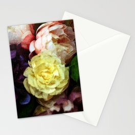 Shabby Chic Flowers Pattern Stationery Cards