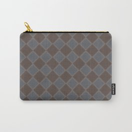 Primitive Tudor Style Diamond Pattern Carry-All Pouch